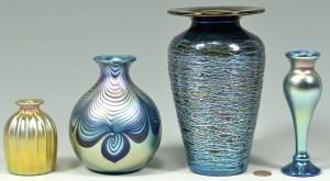 Lot 505: 4 pcs signed Art Glass, Abelman & Correia
