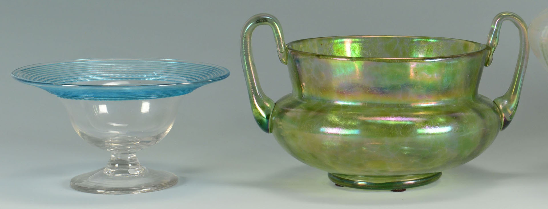 Lot 507: 4 Loetz Type Art Glass Items