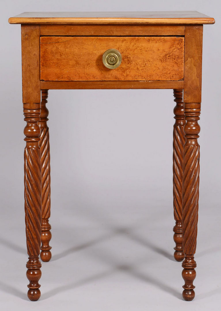 Lot 50: Sheraton One Drawer Table With Rope Twist Legs