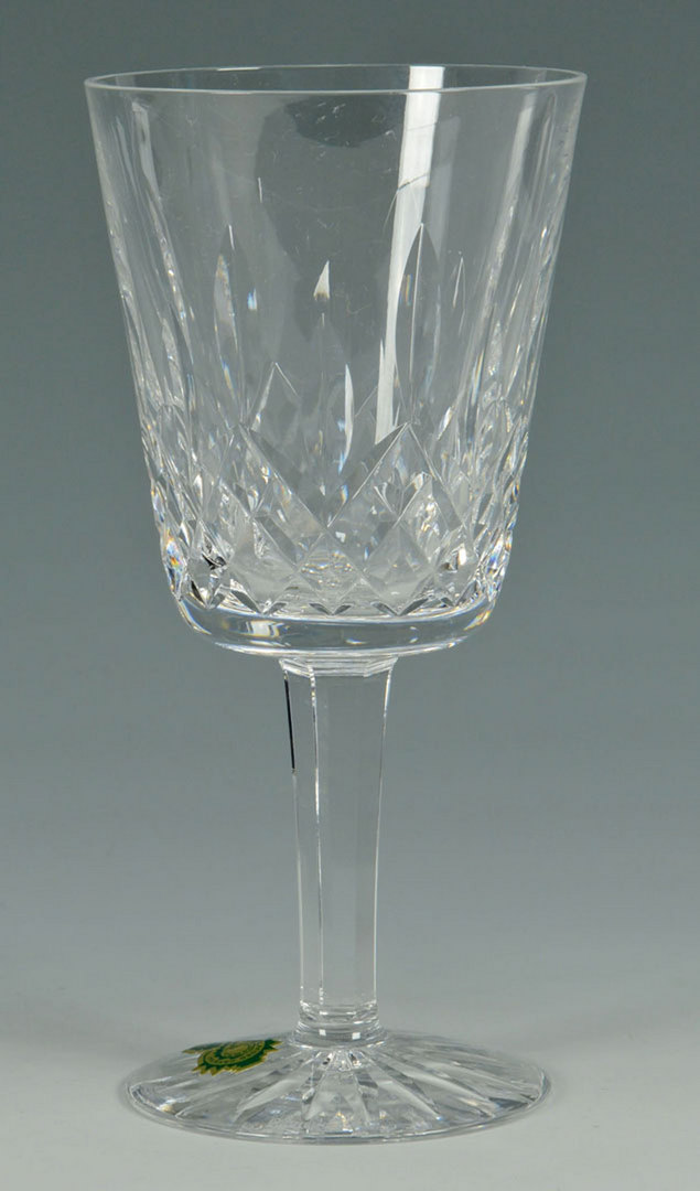 Lot 510: Set of 12 Waterford Crystal Glasses