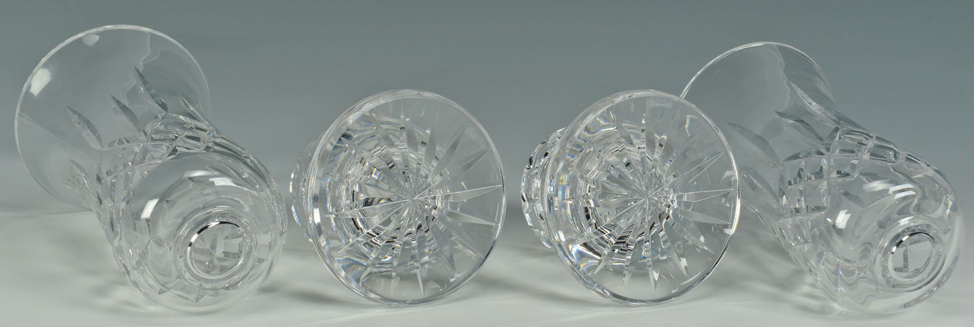 Lot 511: Pr. of Waterford Crystal Hurricane Candle Holders