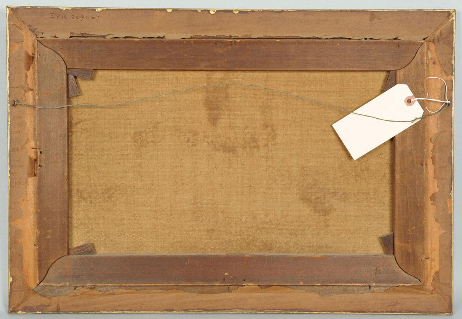 Lot 518: Daniel C. Grose oil on canvas, Indian Bazaar