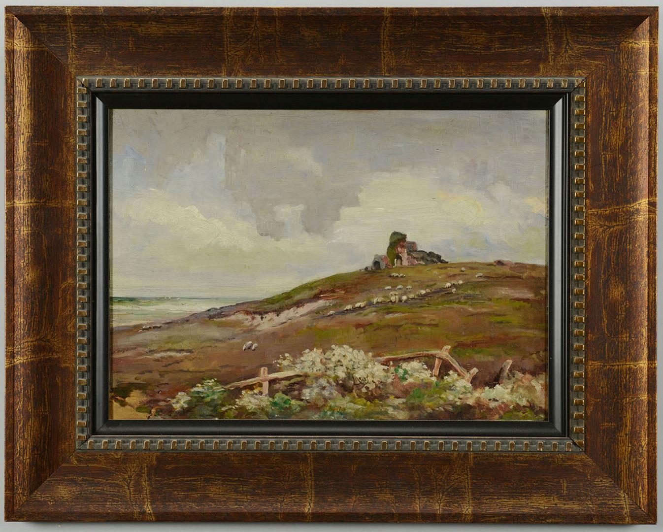 Lot 520: European Landscape Oil on Board