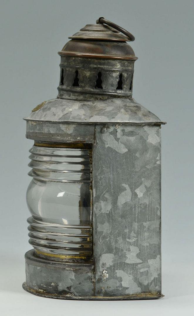 Lot 524: Carpenter Marine Steamboat Lantern & Other