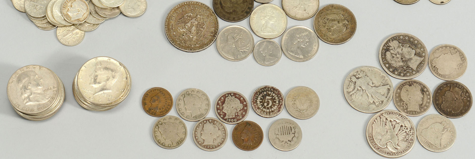 Lot 528: Large Grouping of Assorted Silver Coins