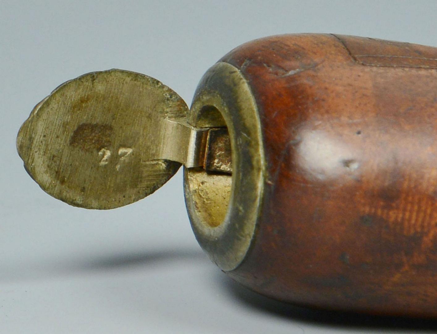 Lot 530: Derringer Type Percussion Pistol & Persian Powder