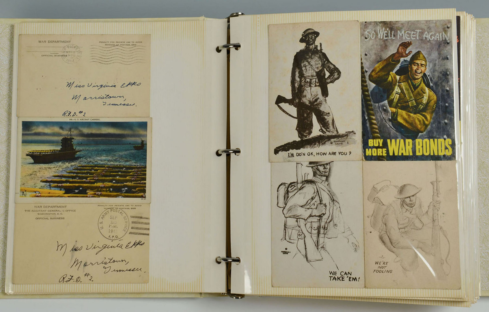 Lot 532: Collection of WWII Era Postcards & others