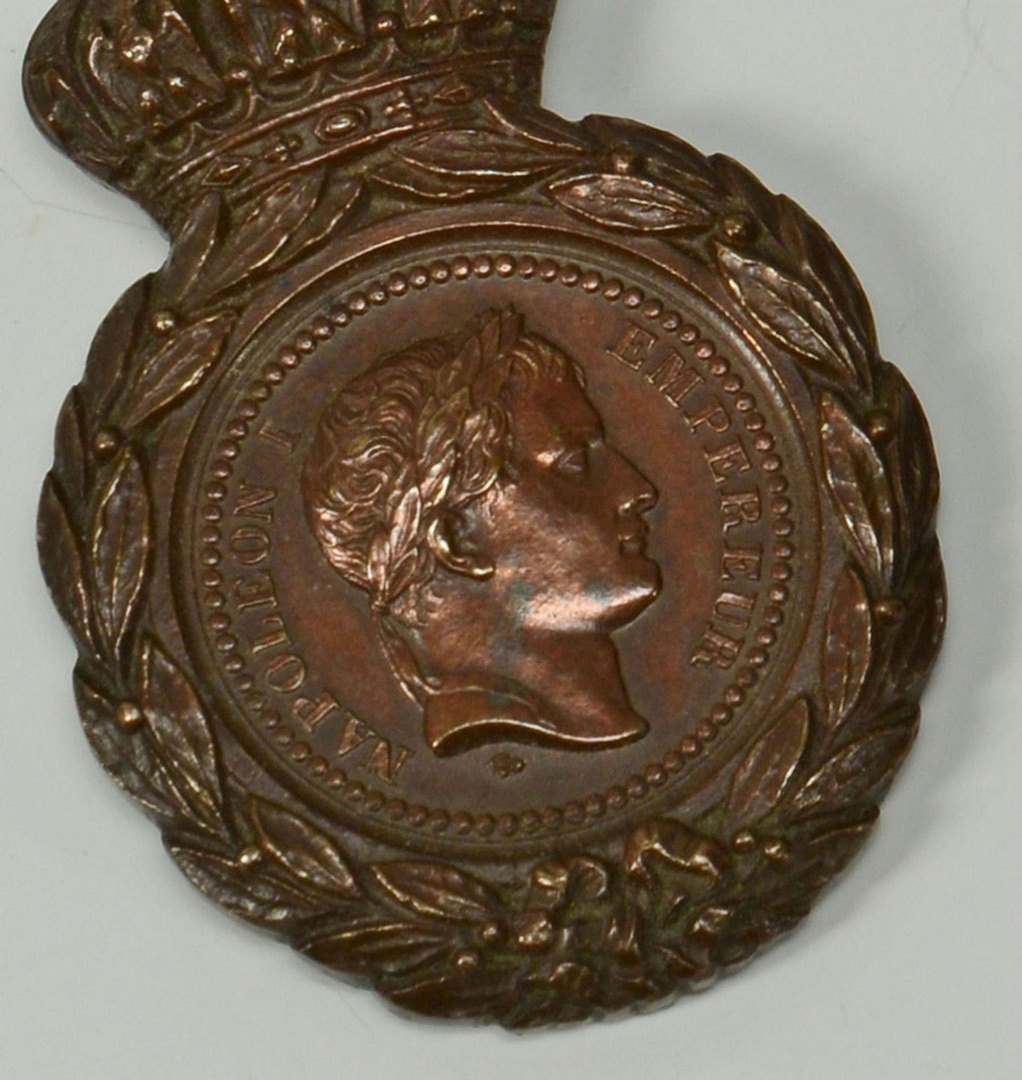 Lot 533: 4 Napoleon Articles, Bronze Medal, Plaque & Plate