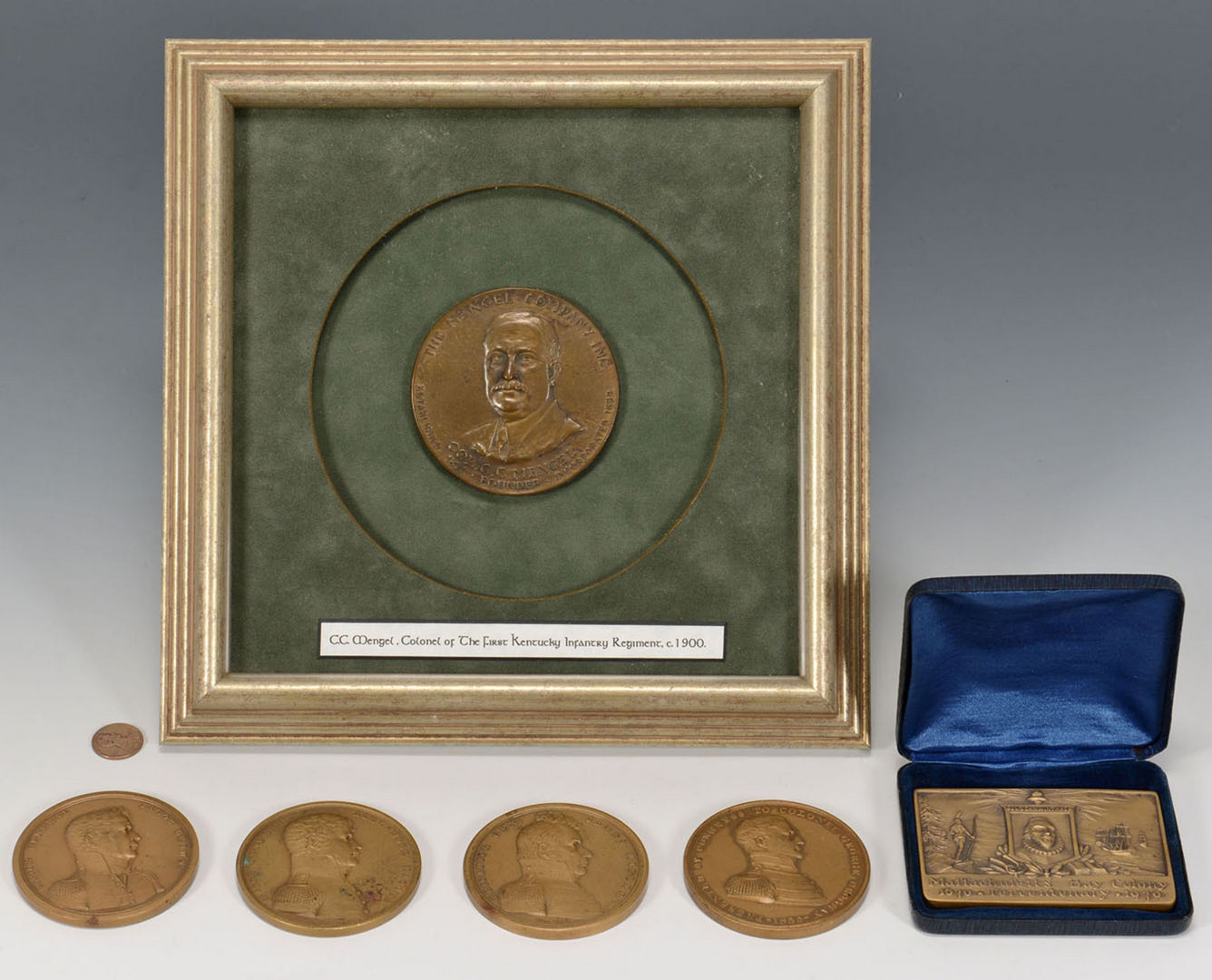 Lot 535: 6 Medallions inc. U.S. Mint Congressional Medals