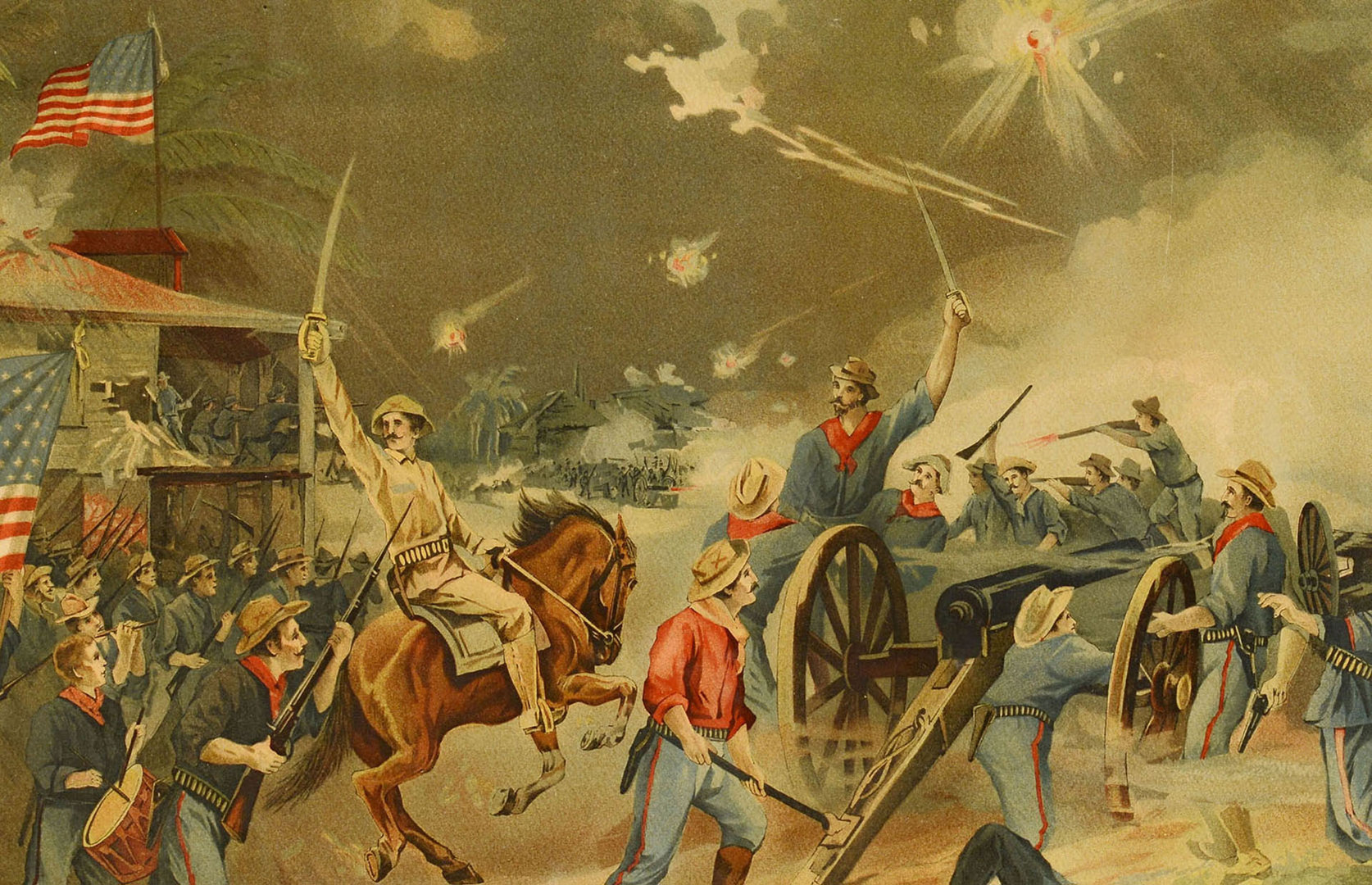 Lot 536: Spanish American War Lithograph
