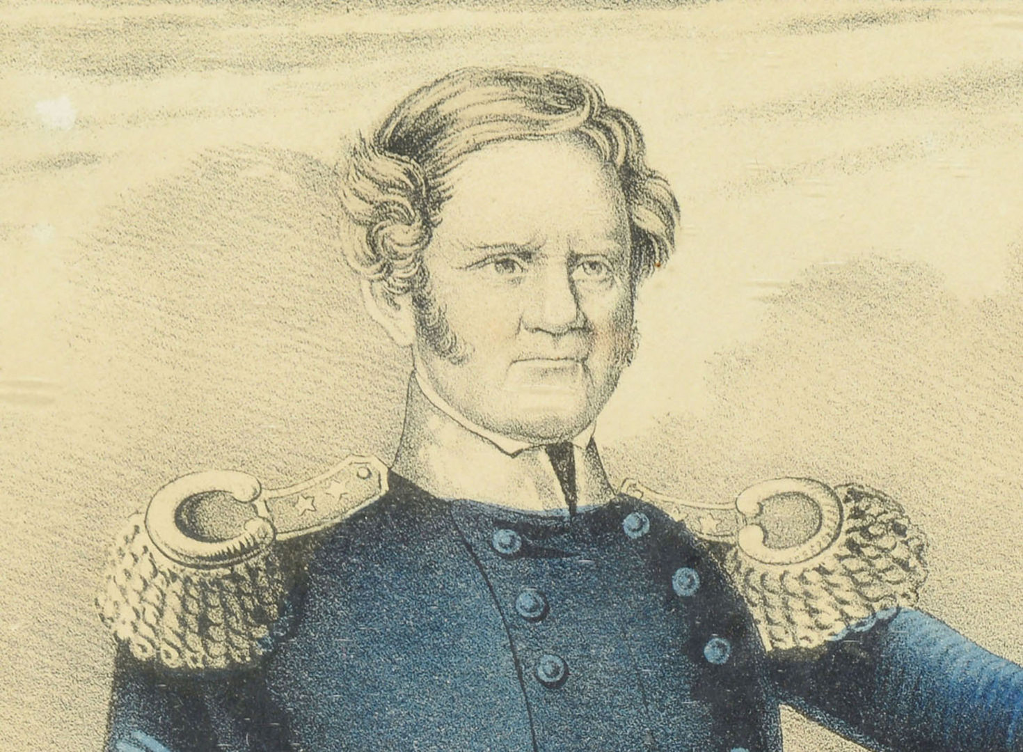 Lot 537: 1847 Currier & Ives Lithograph of Gen. Scott