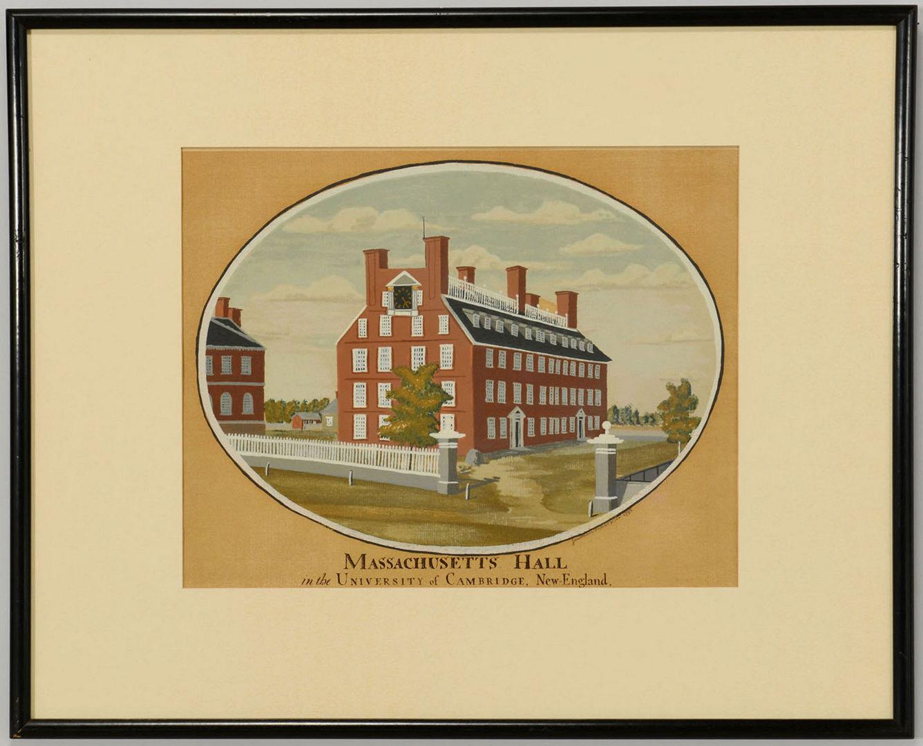 Lot 542: 2 Jonathan Fisher Massachusetts Framed Silkscreens