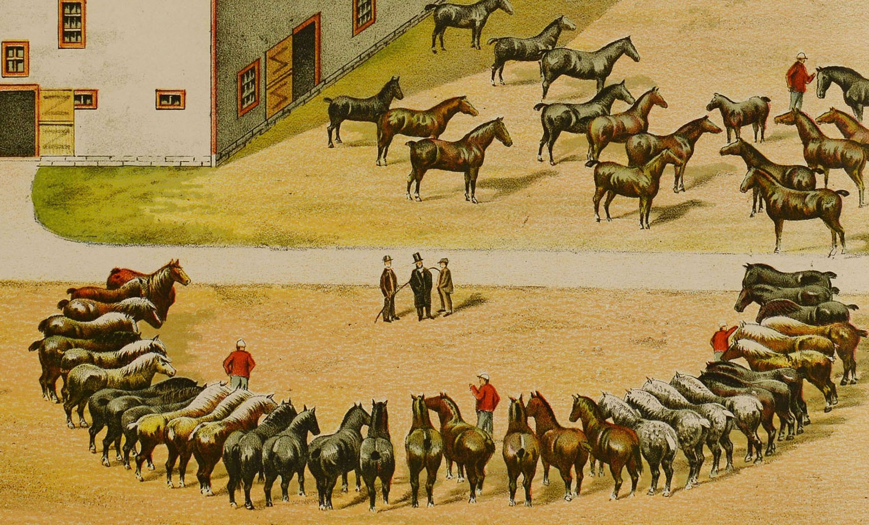 Lot 544: Late 19th Horse Advertising Lithograph