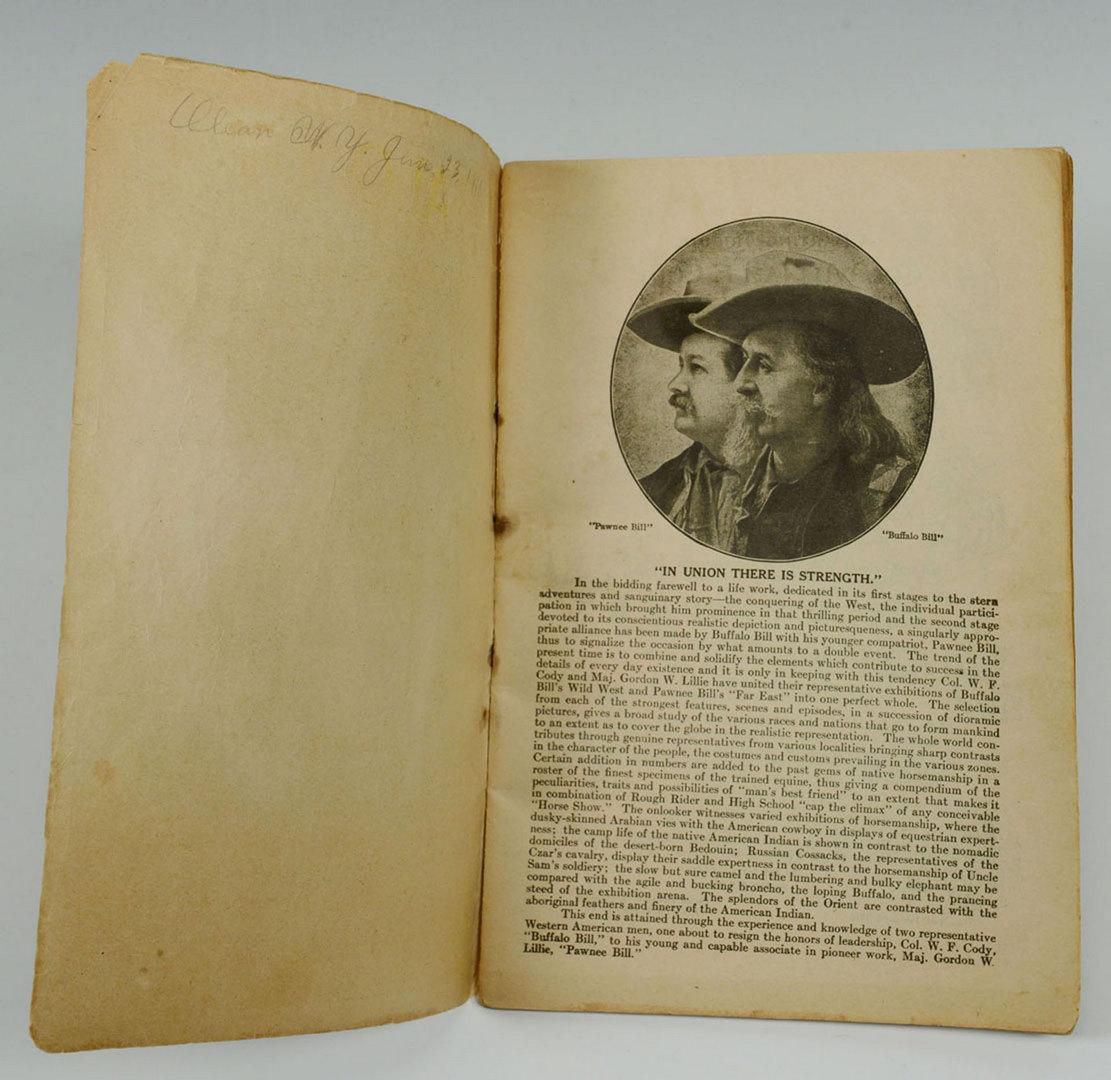 Lot 547: Buffalo Bill Wild West Farewell Program, NY, 1910