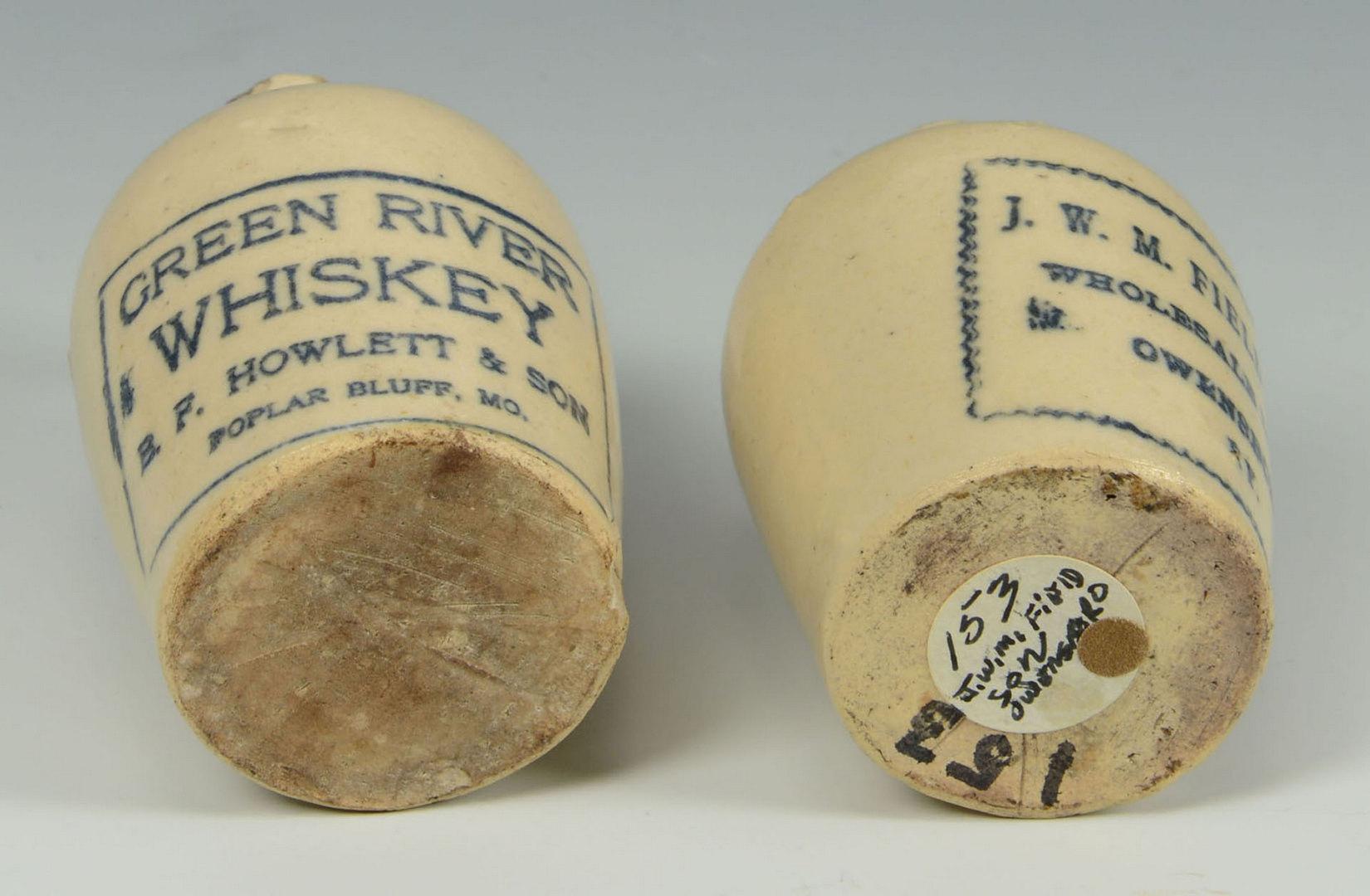 Lot 549: 2 Miniature Kentucky Whiskey Jugs, Owensboro