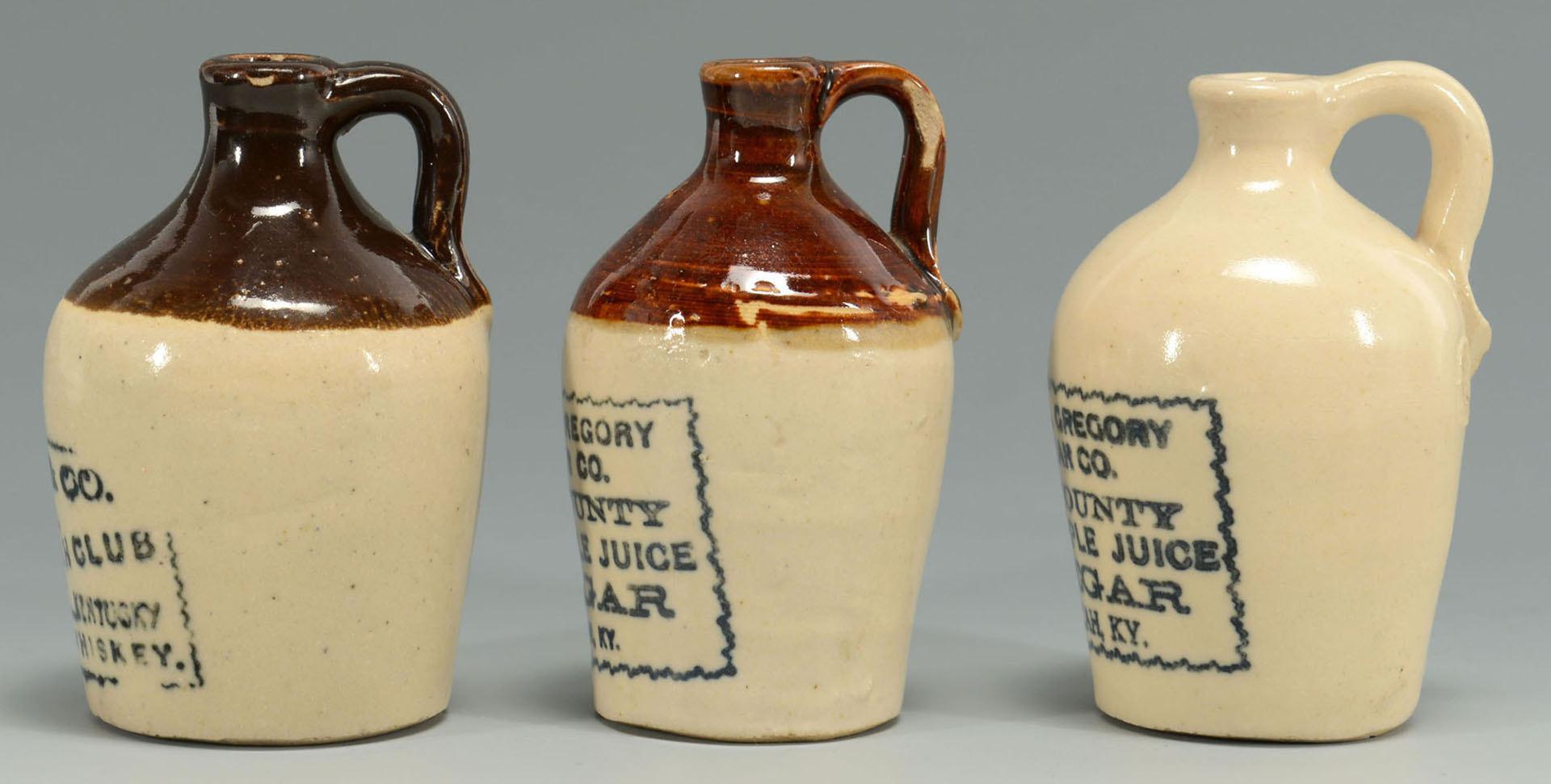 Lot 551: 5 Paducah KY Miniature Whiskey & Vinegar Jugs