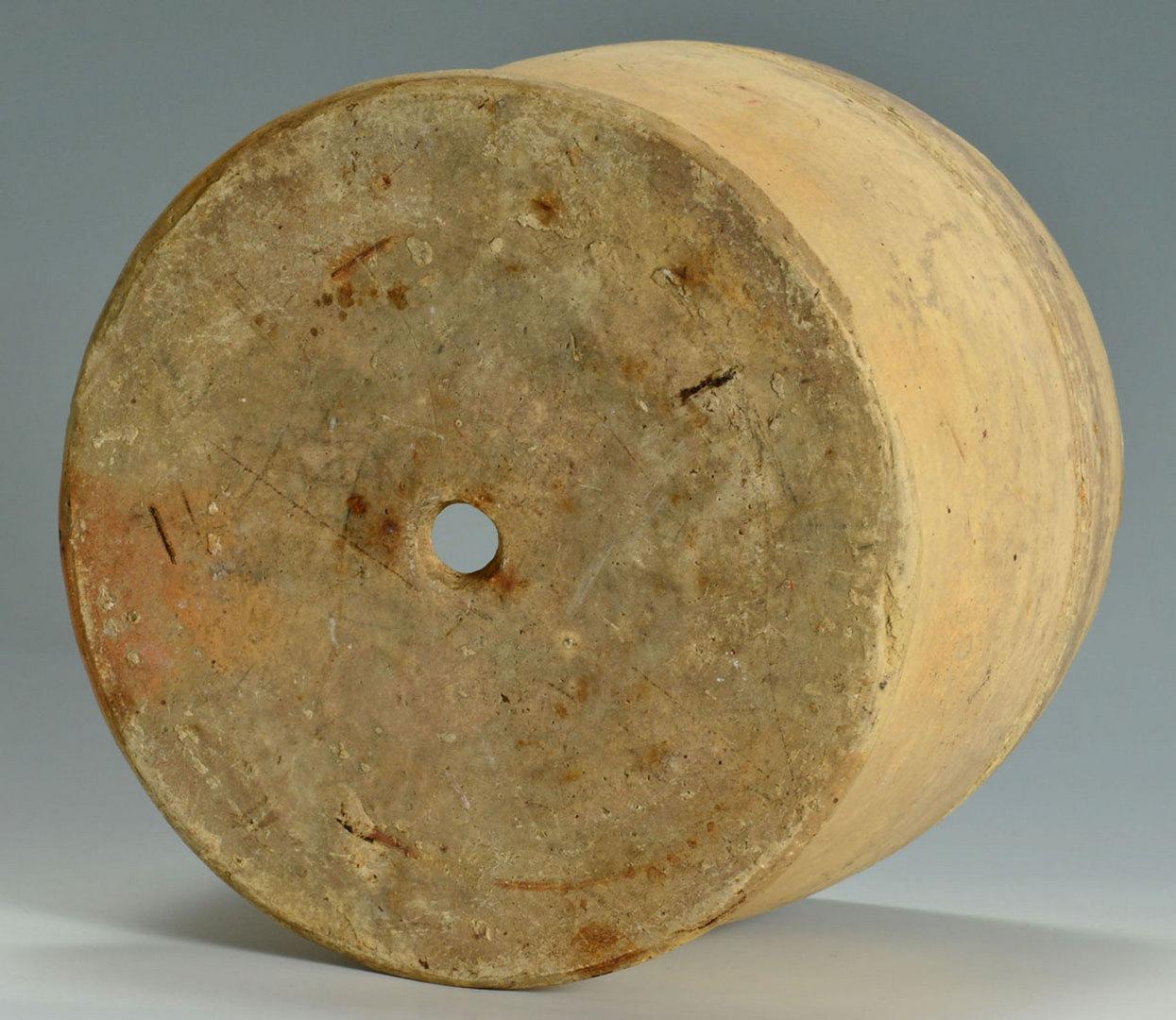Lot 554: Incised Redware Jug & Sine Wave Stoneware Planter