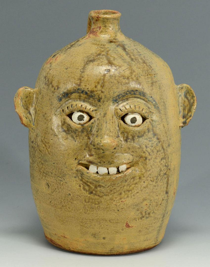 Lot 557: Meaders Folk Art Pottery Face Jug
