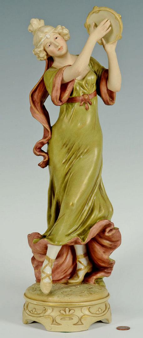 Lot 559: Royal Dux Porcelain Female Figure