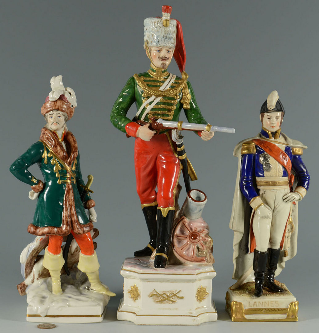 Lot 560: Group of 3 European Porcelain Figures