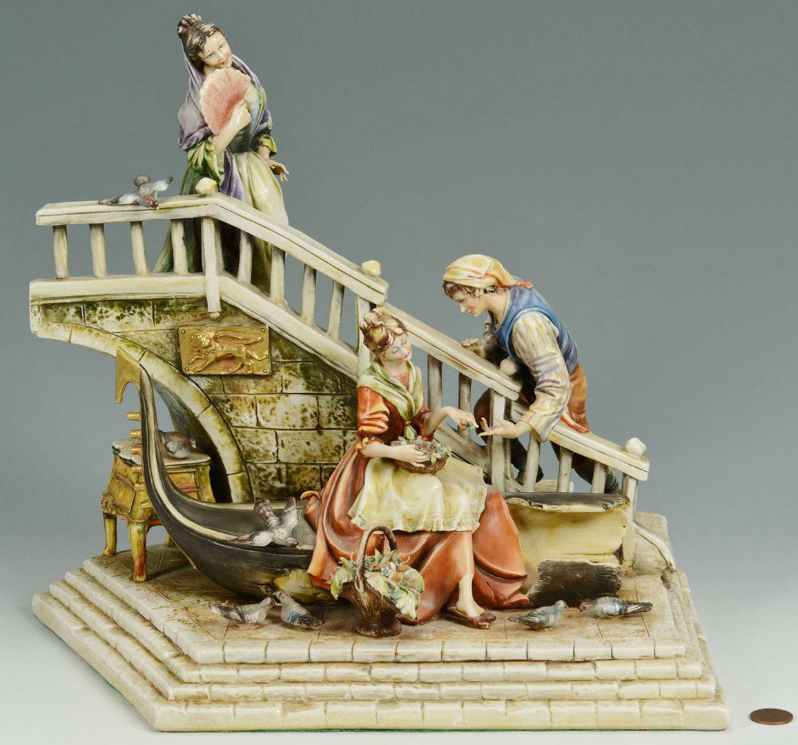 Lot 563: Two (2) Antonio Borsato Figural Groupings