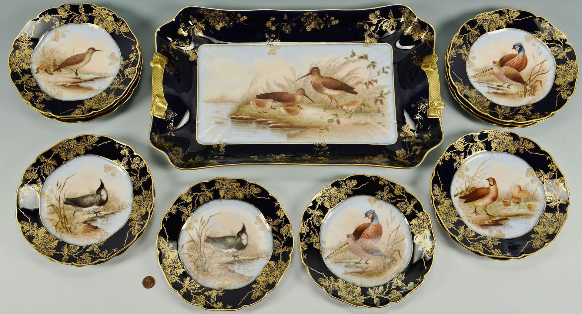 & Lot 564: Haviland Limoges Porcelain Game Set
