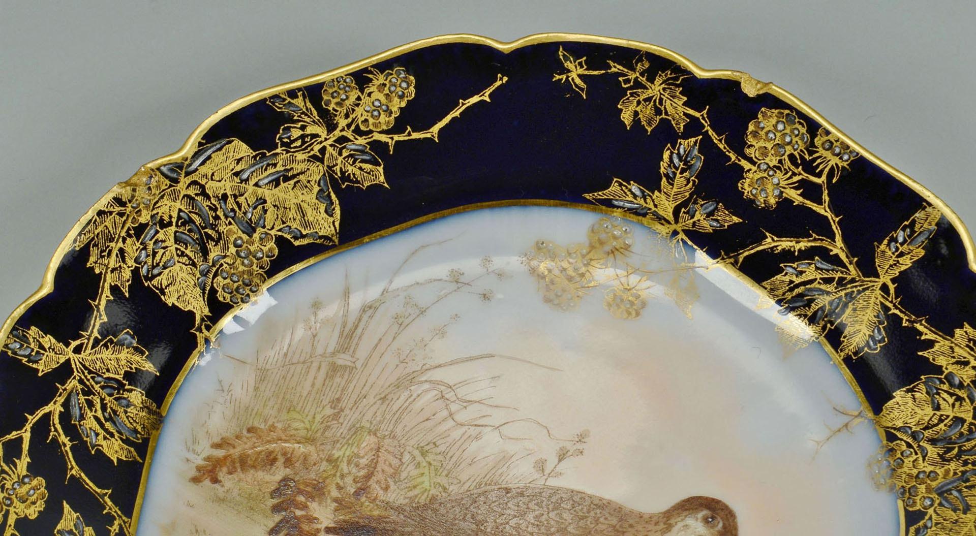 Lot 564: Haviland Limoges Porcelain Game Set
