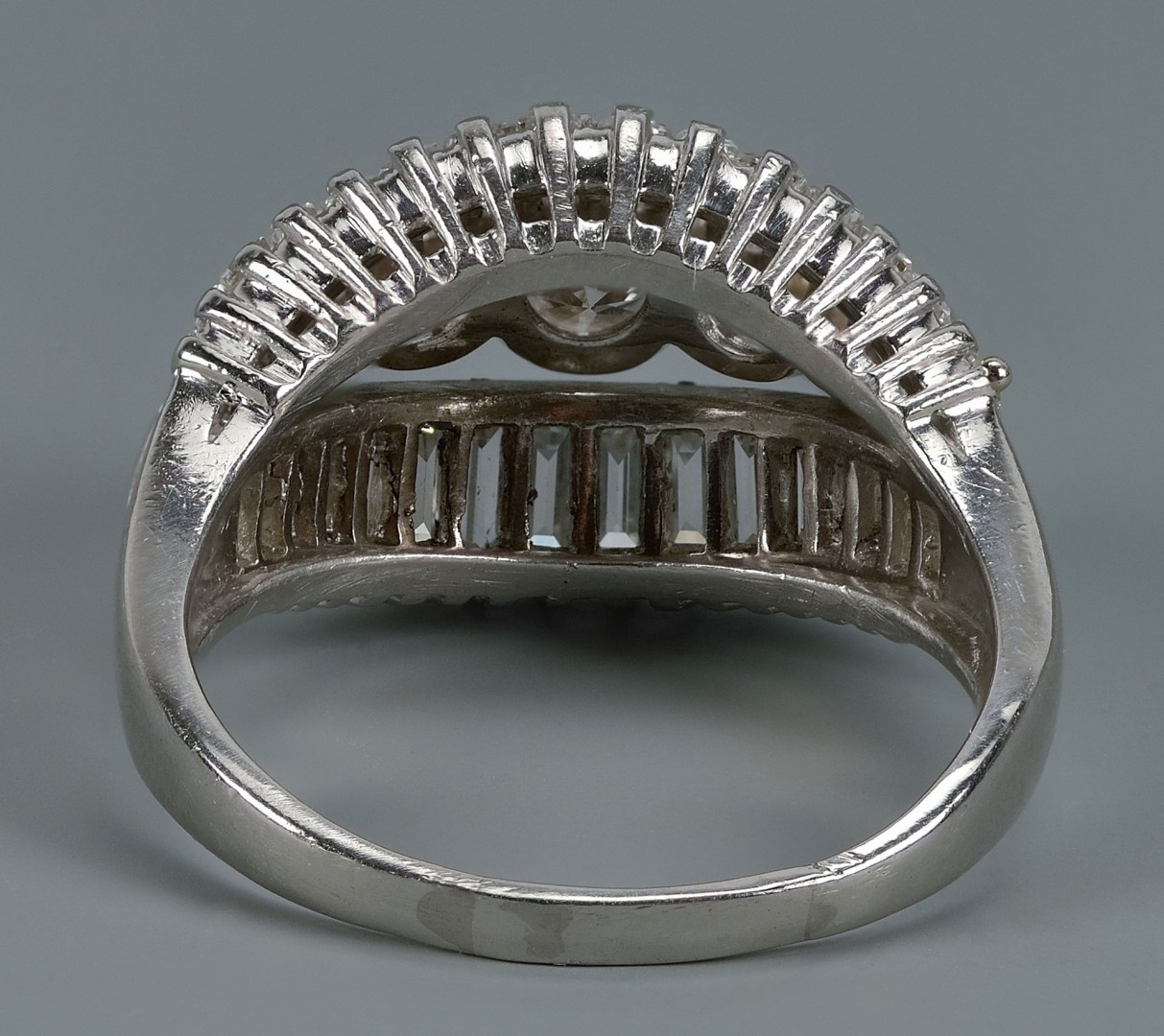 Lot 56: Platinum Diamond Ring with 3 ct total wt.