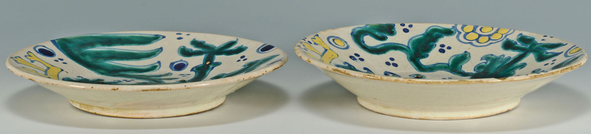 Lot 574: Two European Faience Plates w/ Griffin & Eagle, 19