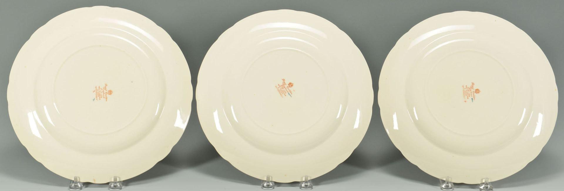 Lot 577: 6 English Royal Cauldon Porcelain Plates, Bittersw