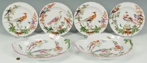 Lot 578: Williamsburg Mottahedeh Porcelain Set, 6 pcs