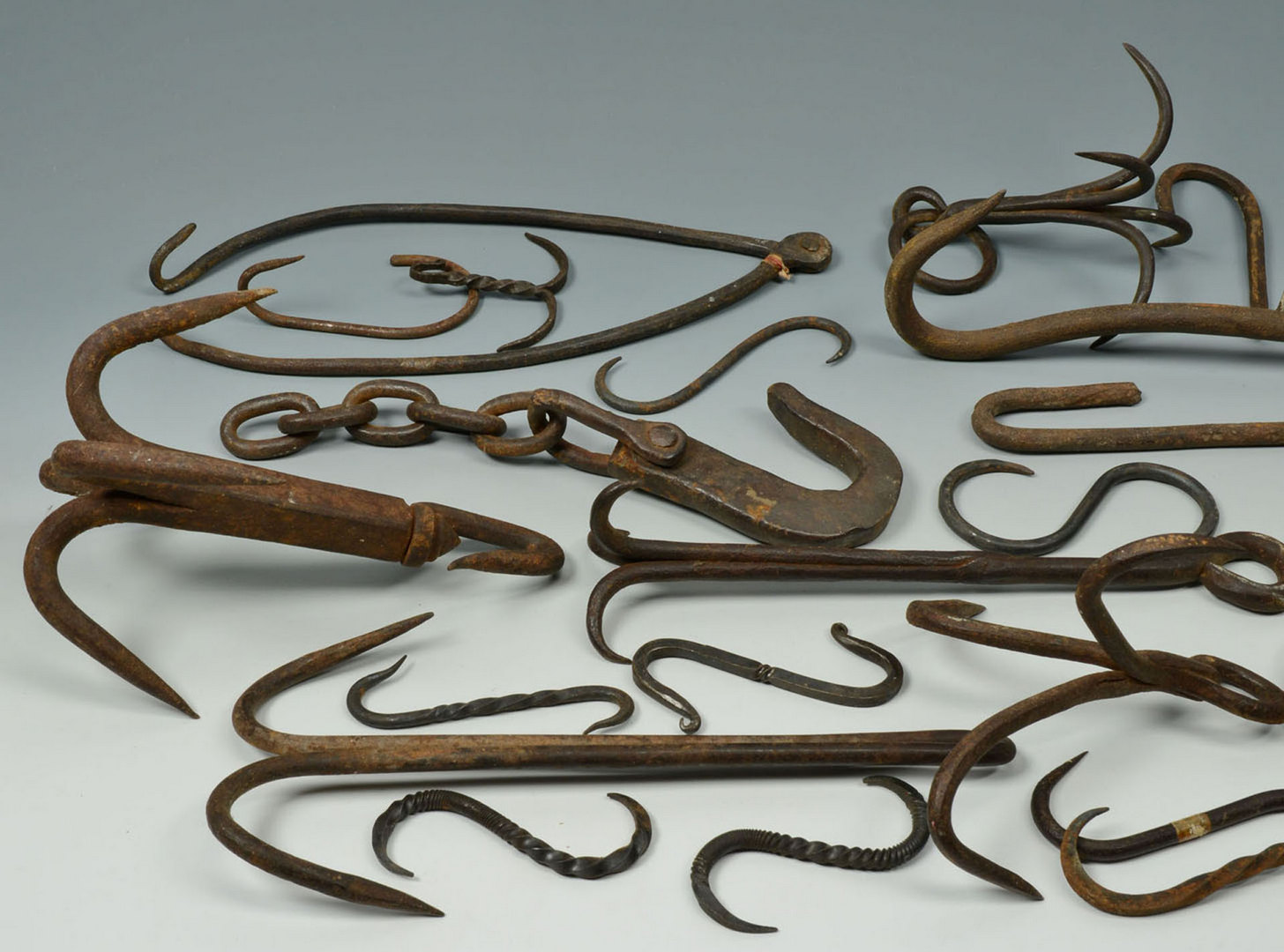 Lot 586: Grouping of Early Iron, Mostly Hearth Related