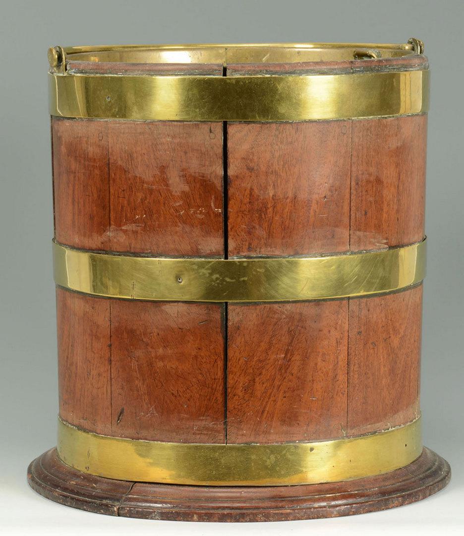 Lot 587: Brass Bound Peat Bucket