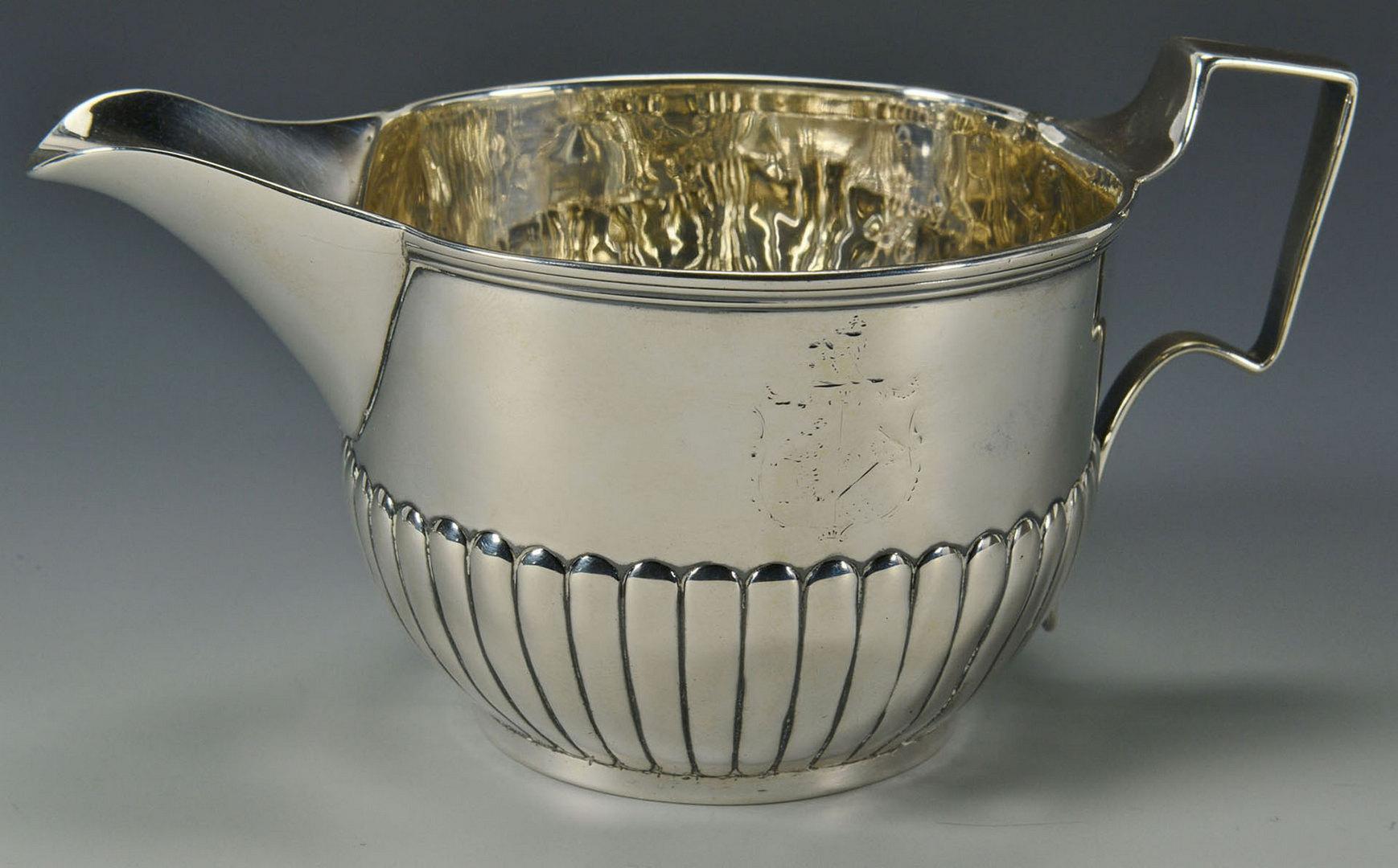 Lot 594: 3 Items British Sterling: cream jug, stuffing spoo