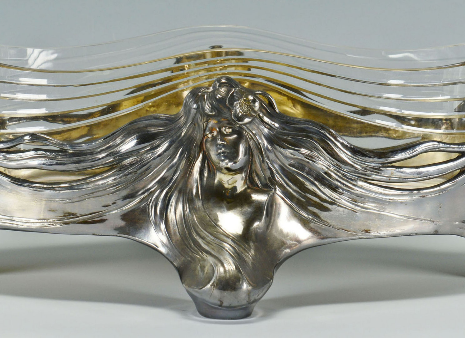 Lot 598: Large Orivit Art Nouveau centerpiece