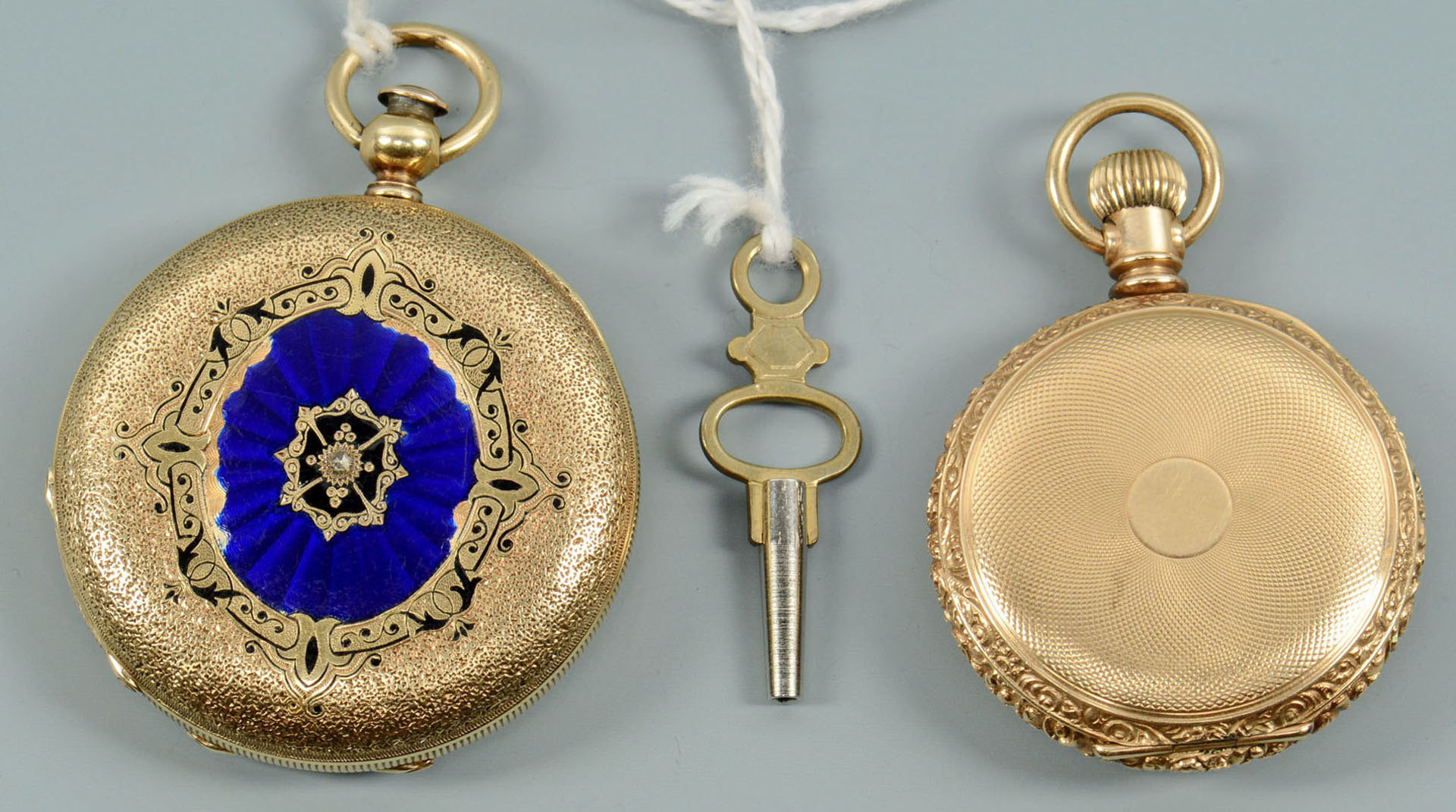 Lot 59: Two ladies 14k pocket watches incl Locle