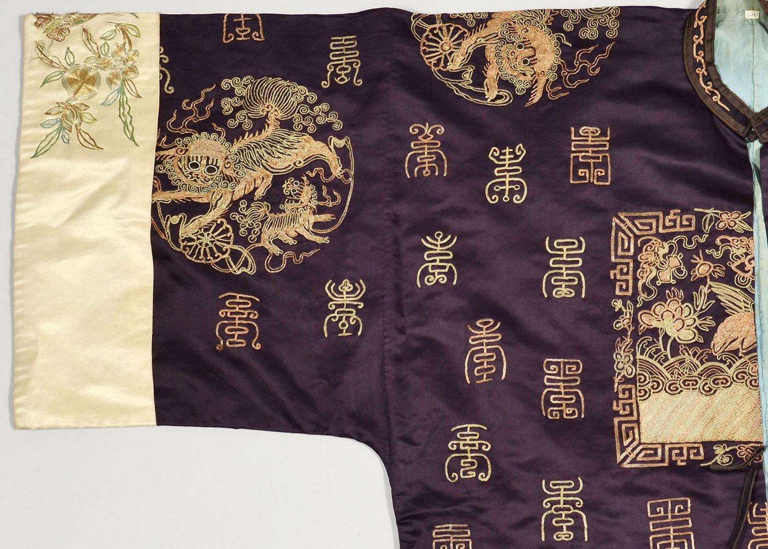 Lot 5: Chinese Ceremonial Manchu Silk Ladies Robe