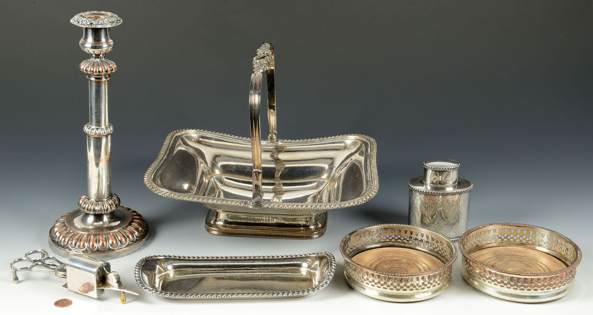 Lot 600: 7 pieces Old Sheffield Plate Hollowware
