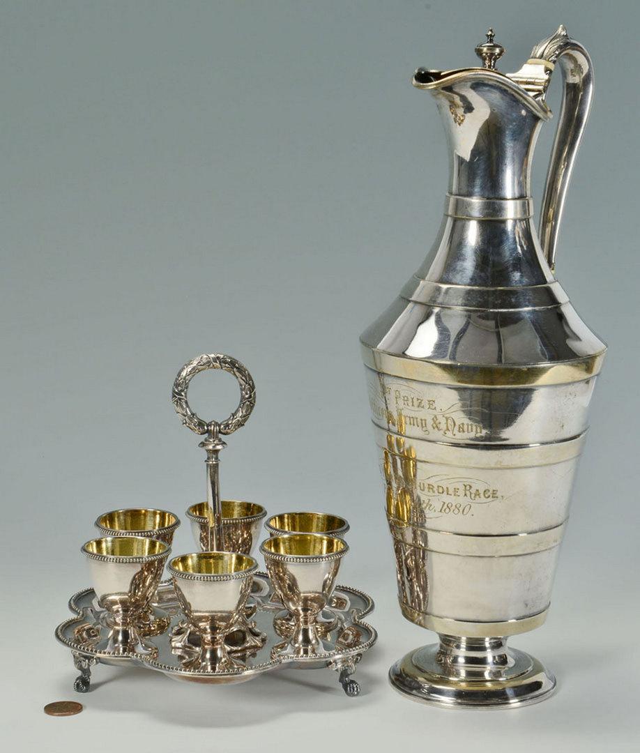 Lot 602: Victorian Trophy and Egg Server, 2 pcs