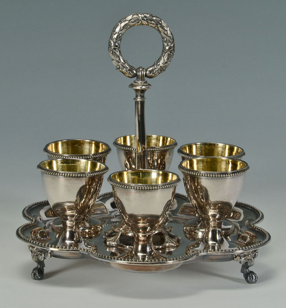 Lot 602: Victorian Trophy and Egg Server, 2 pcs