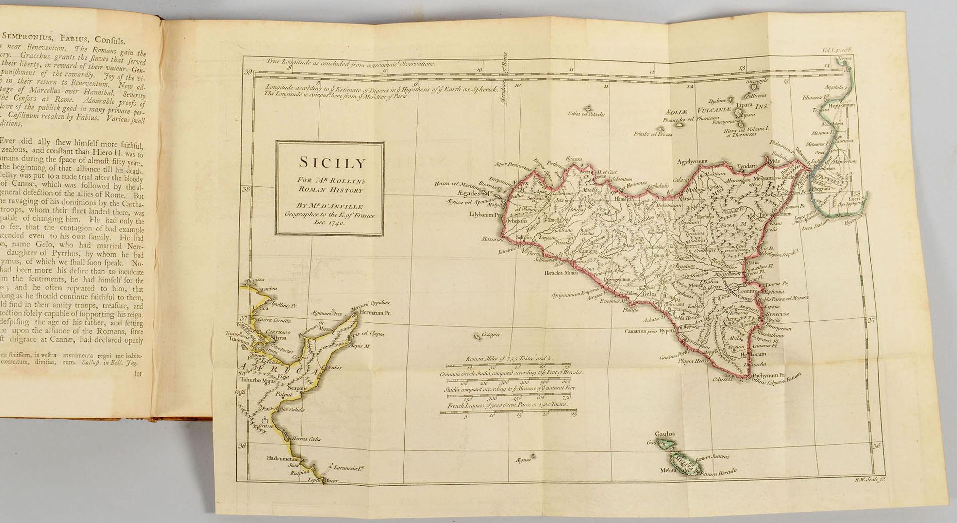 Lot 606: Rollin's Roman History, 16 vols.