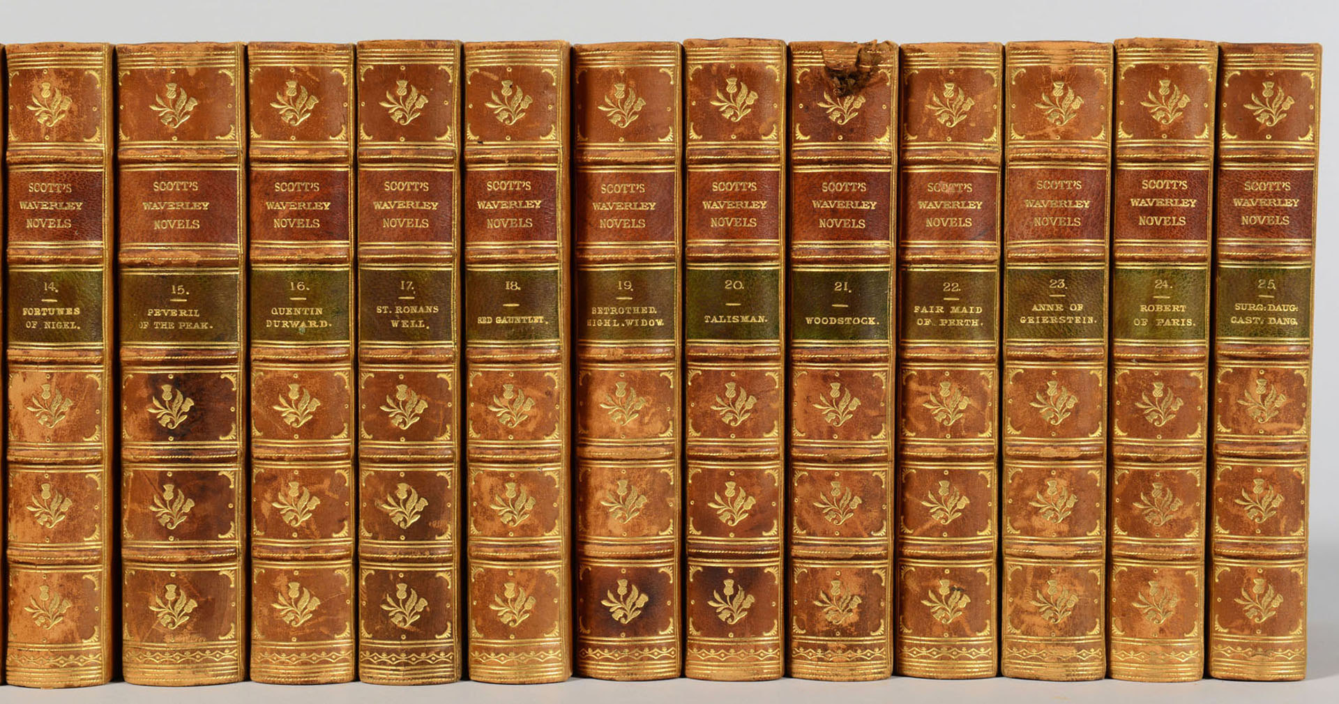 Lot 607: The Waverly Novels by Sir Walter Scott, 25 Vols.