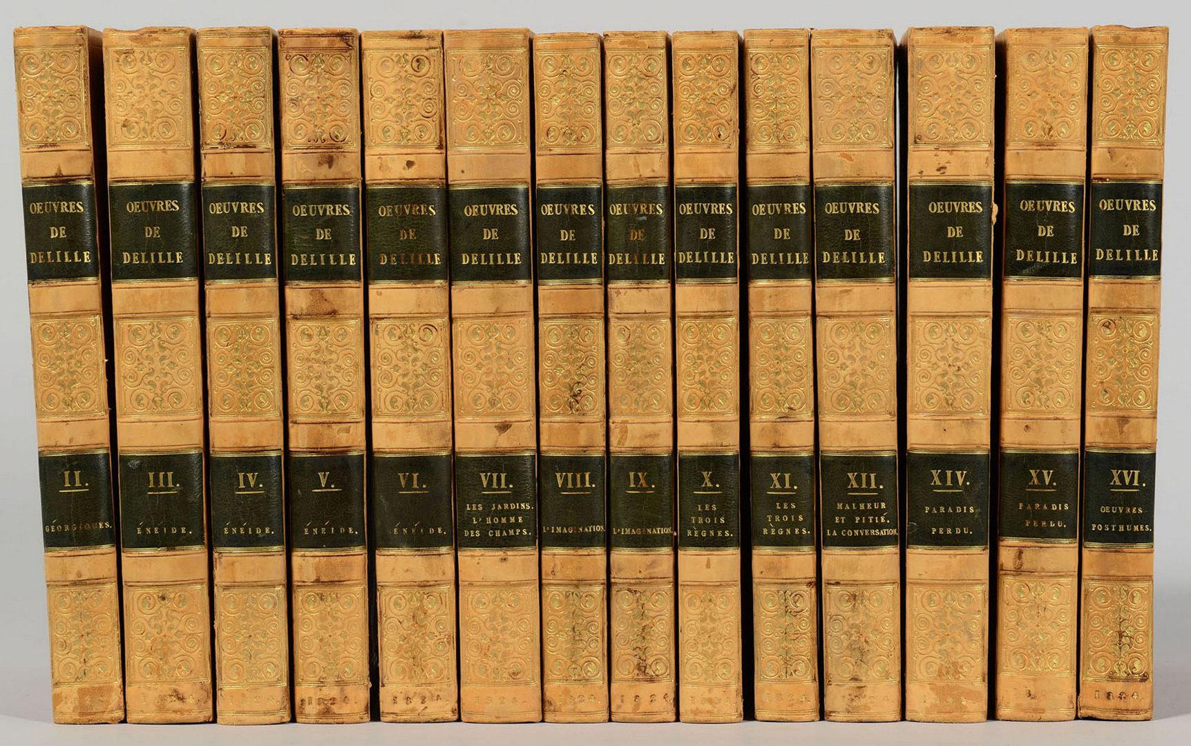 Lot 609: Oeuvres de Delille, 14 vols.