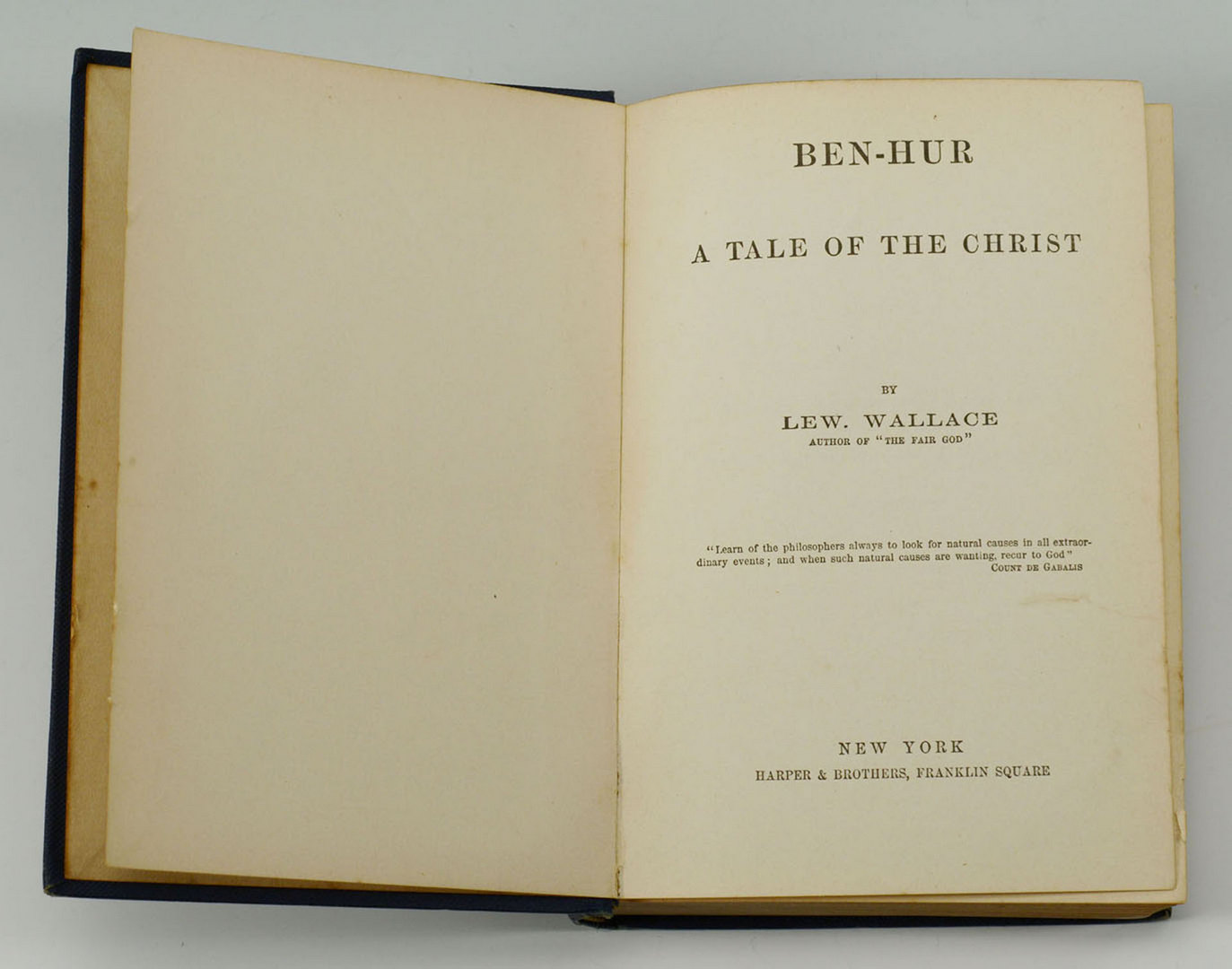 Lot 613: 1880 First Edition Ben Hur: A Tale of the Christ