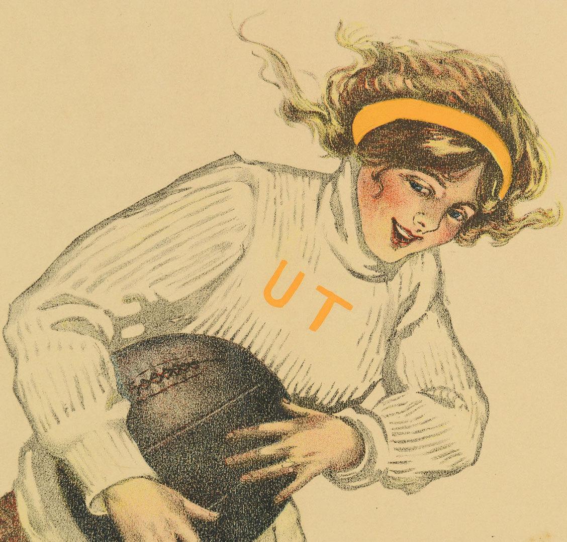 Lot 616: UT basketball poster circa 1910, Sadie Mitchell