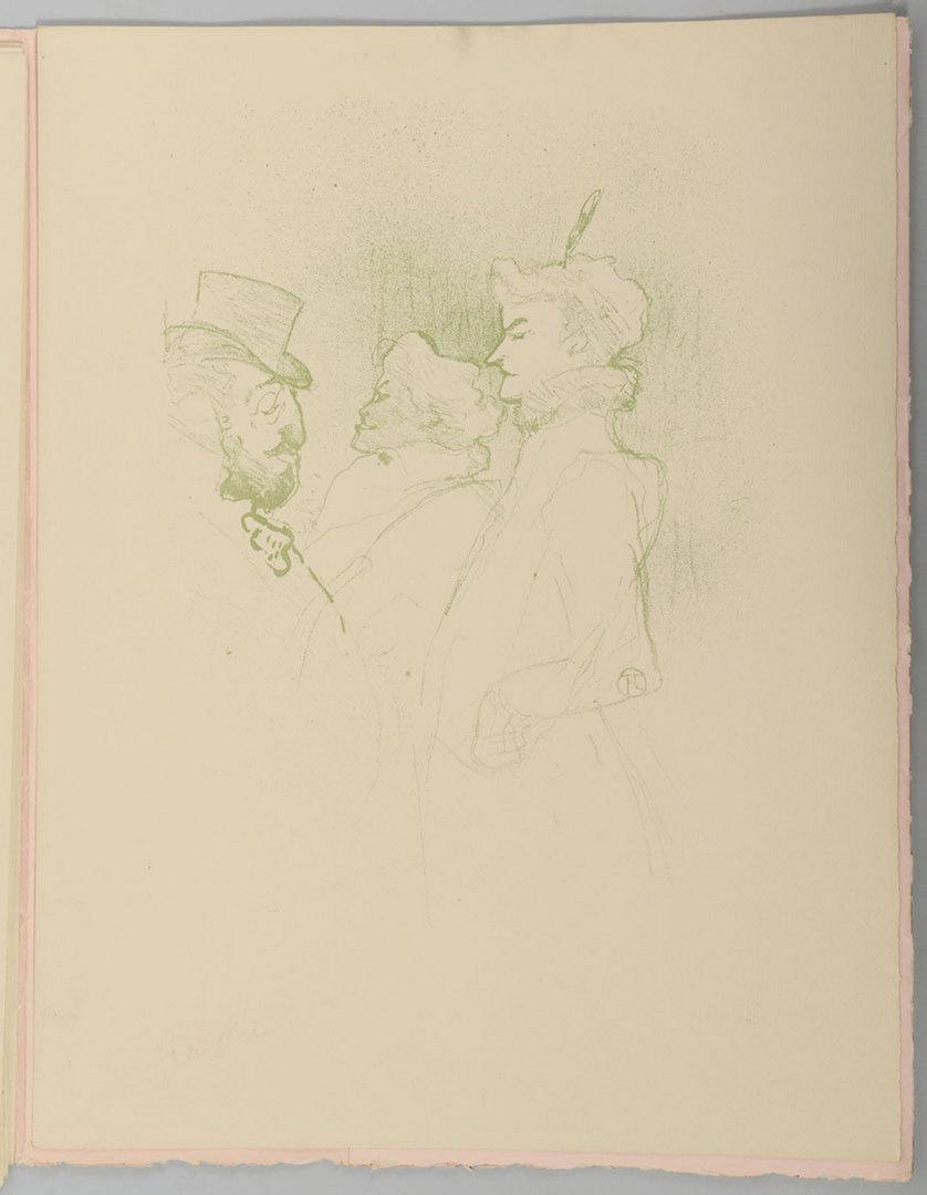 Lot 619: Toulouse-Lautrec Philadelphia Portfolio, 9 prints