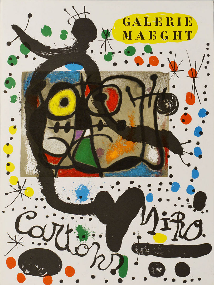 Lot 620: 3 Joan Miro Galerie Maeght lithograph posters