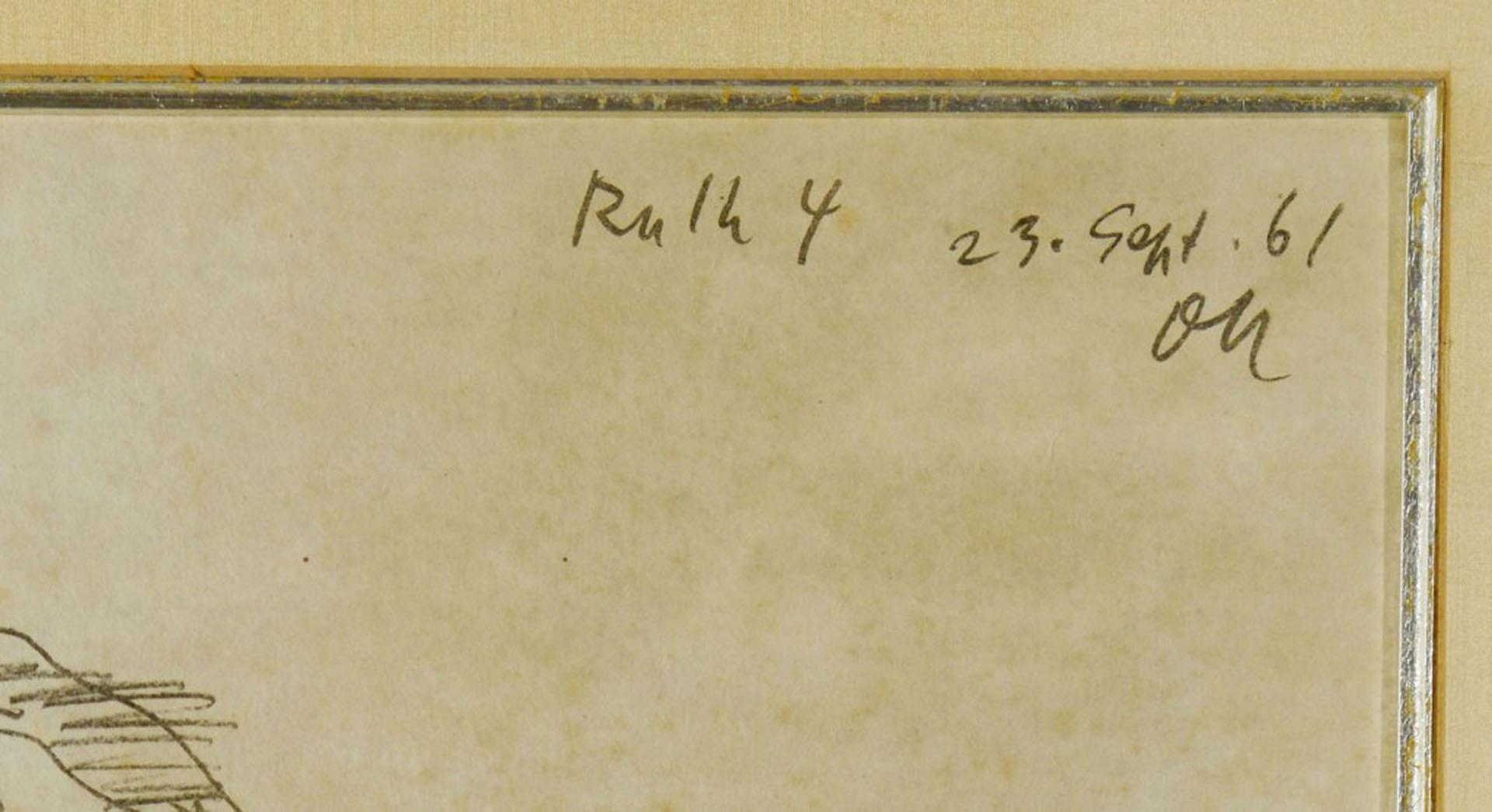 """Lot 622: Oskar Kokoschka Lithograph titled """"Ruth 4"""""""