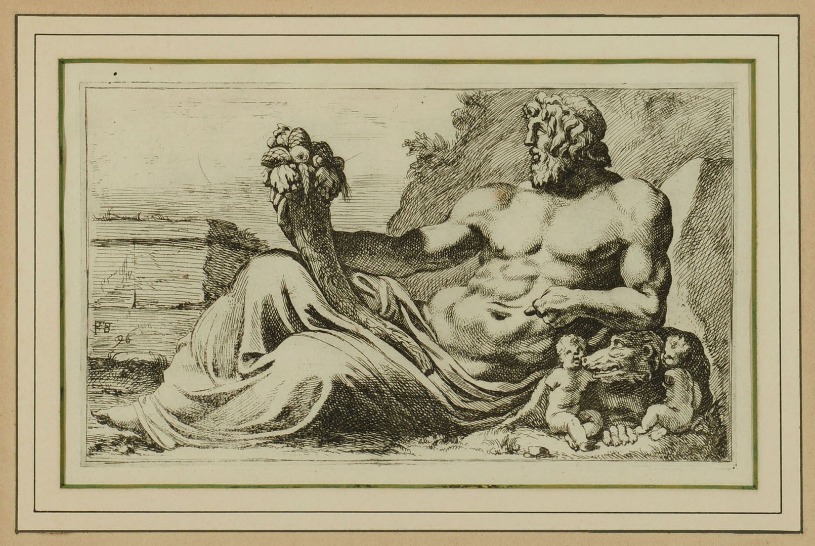 Lot 626: Group of 5 Etchings: Paris, Zeus, Thebes
