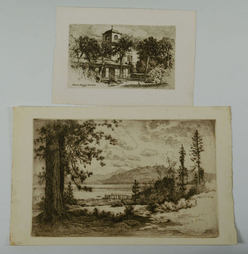 Lot 628: Walworth Stilson, 7 Etchings of California